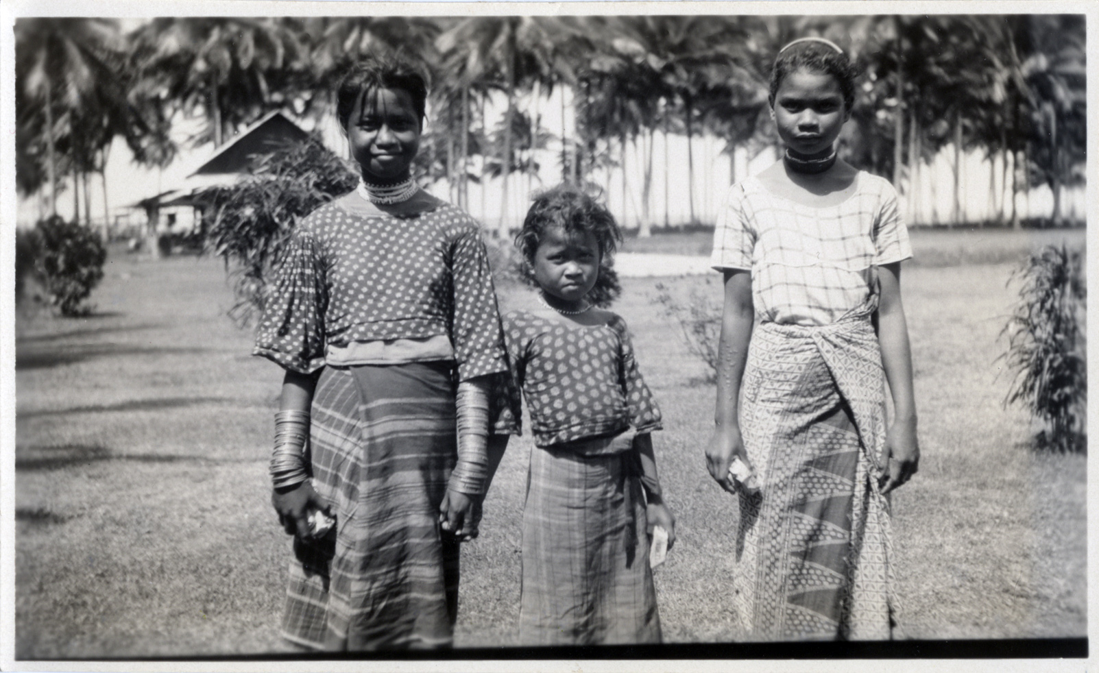 Three Manobo girls, July 1931