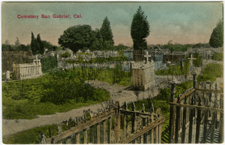 Depiction of Cemetery at San Gabriel, Calif.