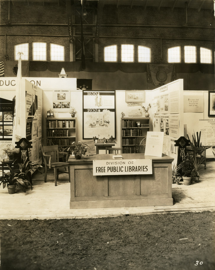 Depiction of Library exhibit