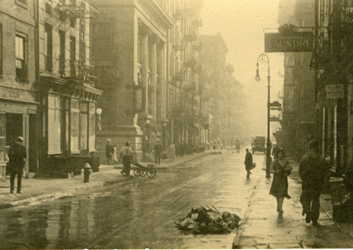 New York street scene, ca.1931