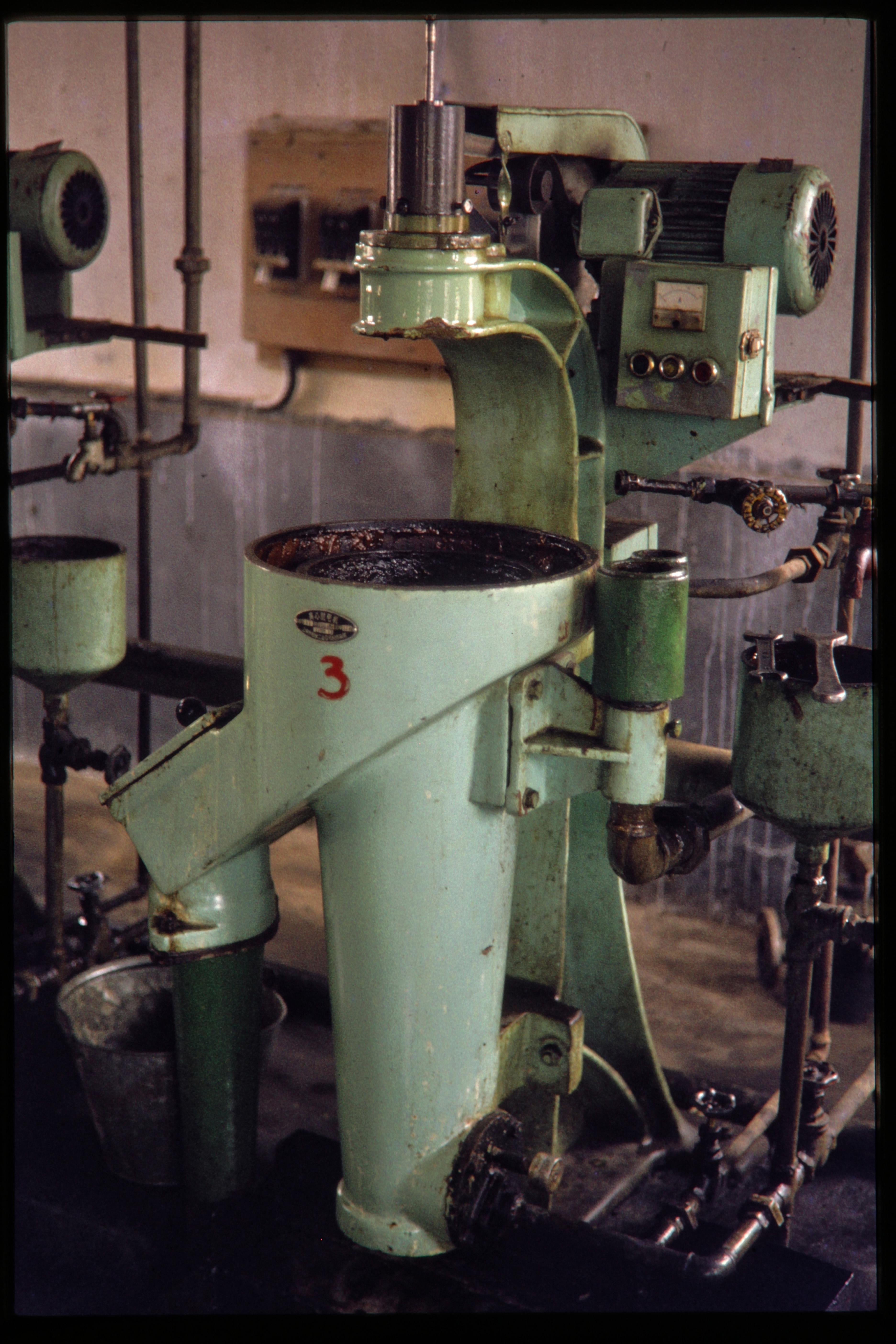 Depiction of Oil processing plant machinery, June 1978