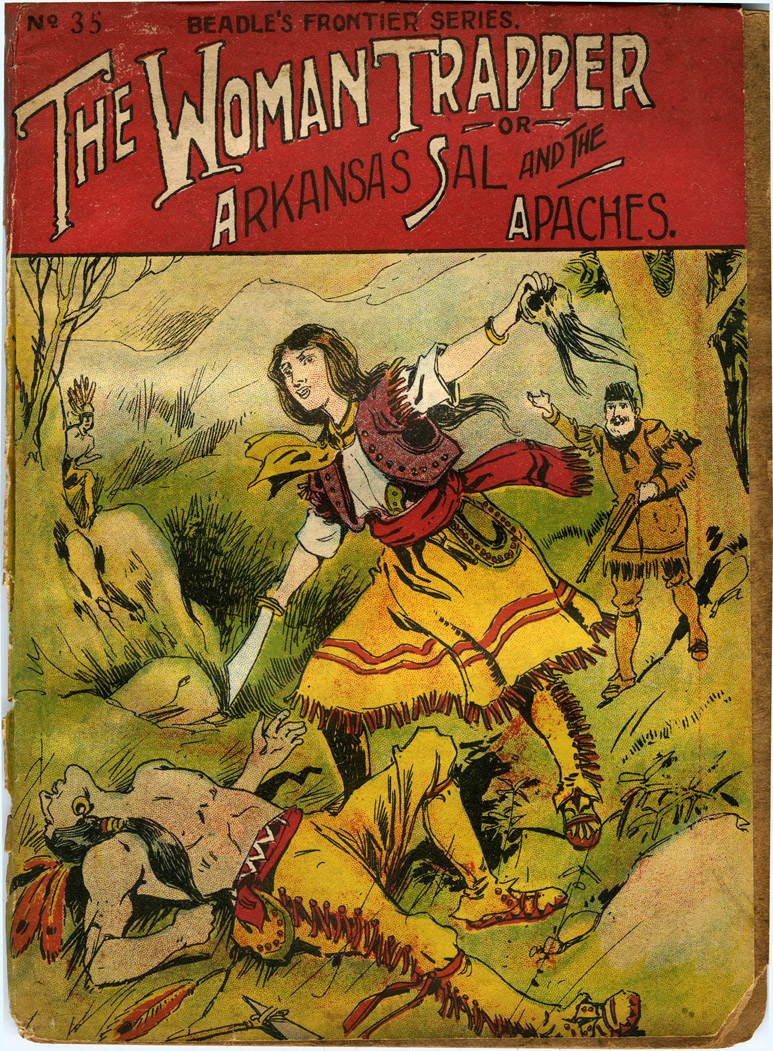 An image of: The Woman Trapper, from Beadle's Frontier Series no. 35 (1908)