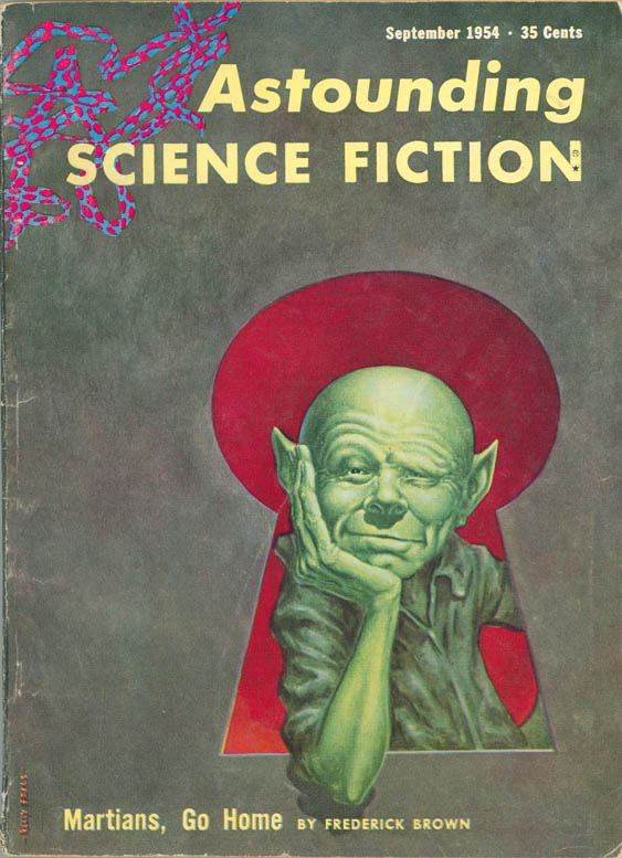 Depiction of Astounding Science Fiction, Sept. 1954