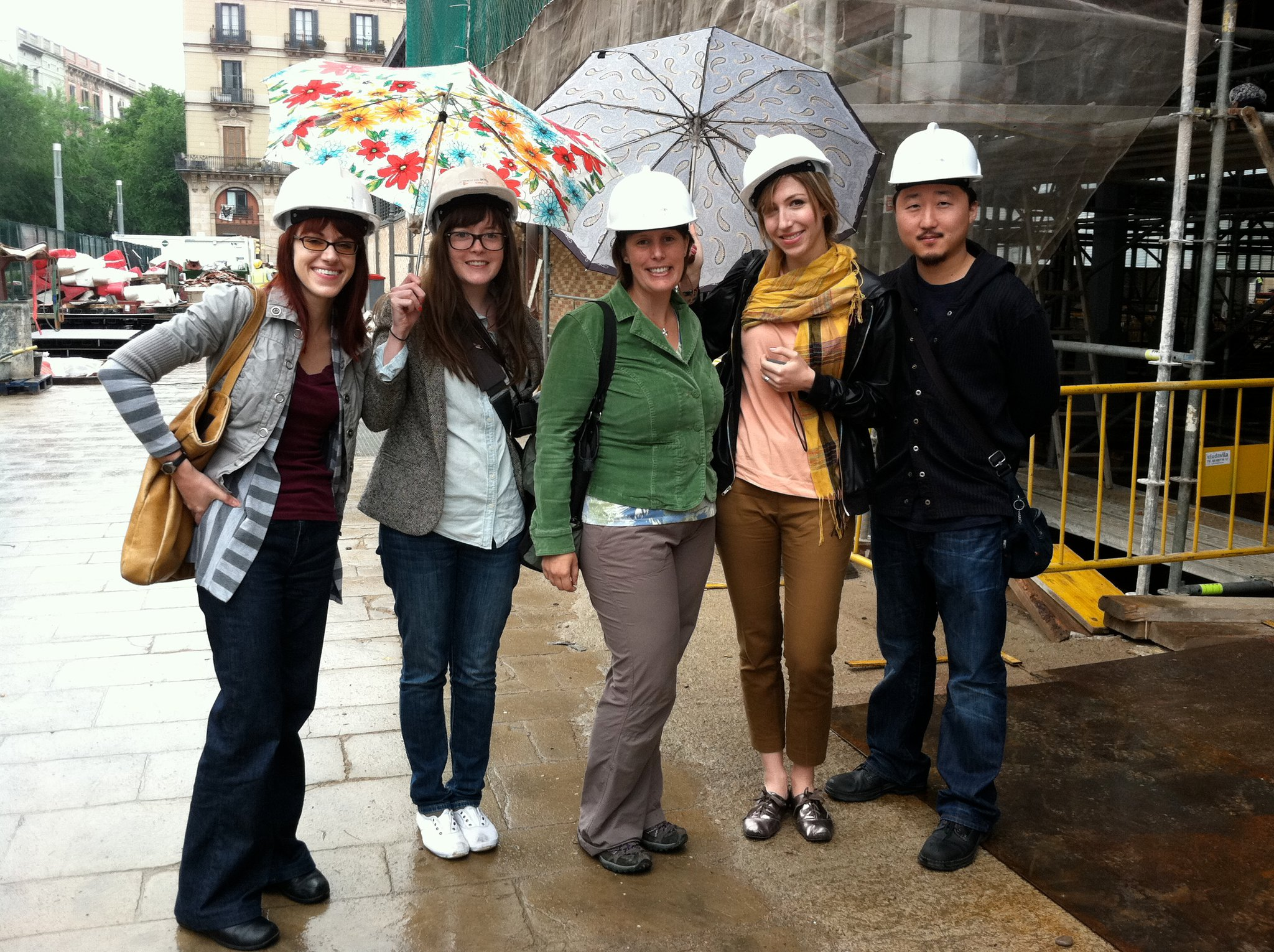 An image of: Field study in Barcelona, 2011: Dana Johnson, Grace Cleary, Jill Bierly, Mackenzie Jackson, Seung ho Chung