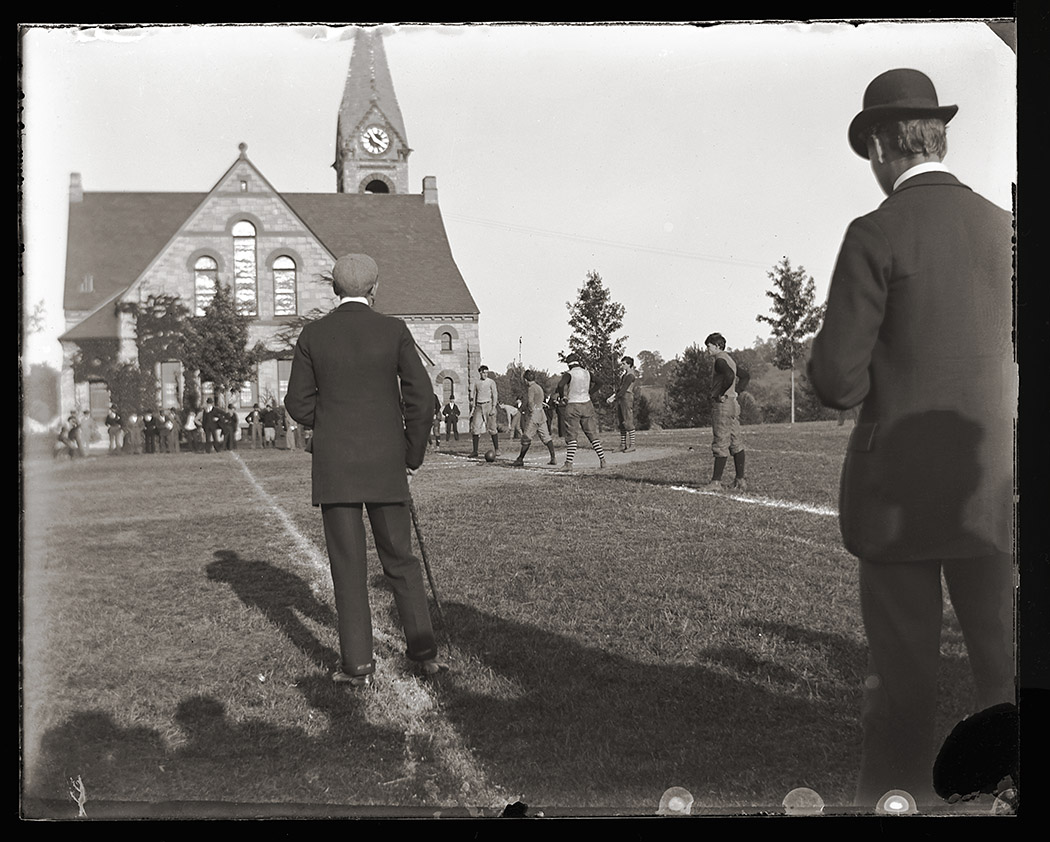 Image of Football game by Old Chapel, ca.1894