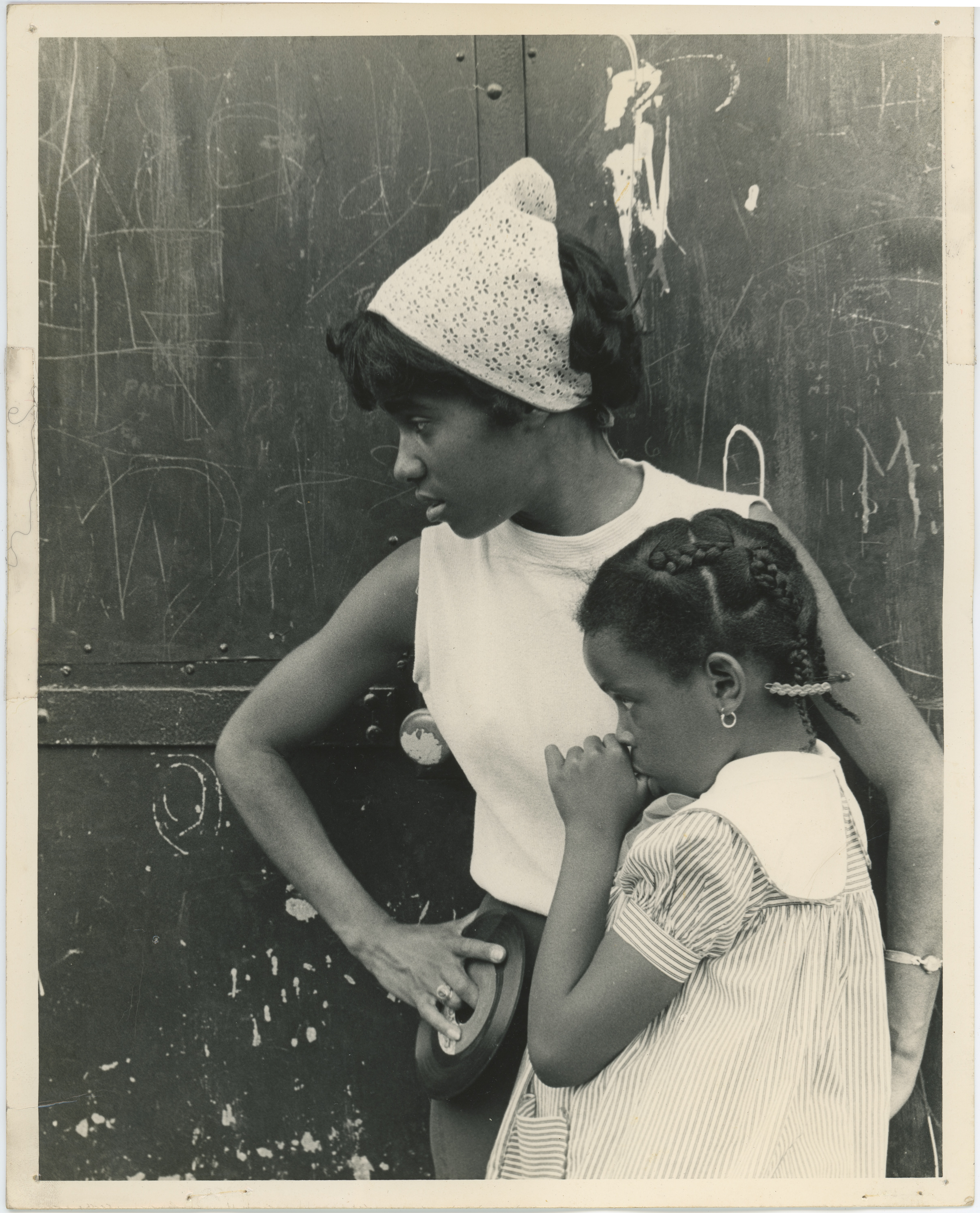 An image of: Cheryl Evans with student, Roxbury Summer Program, 1965
