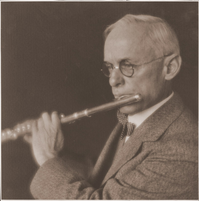 Image of Frank A Waugh with flute