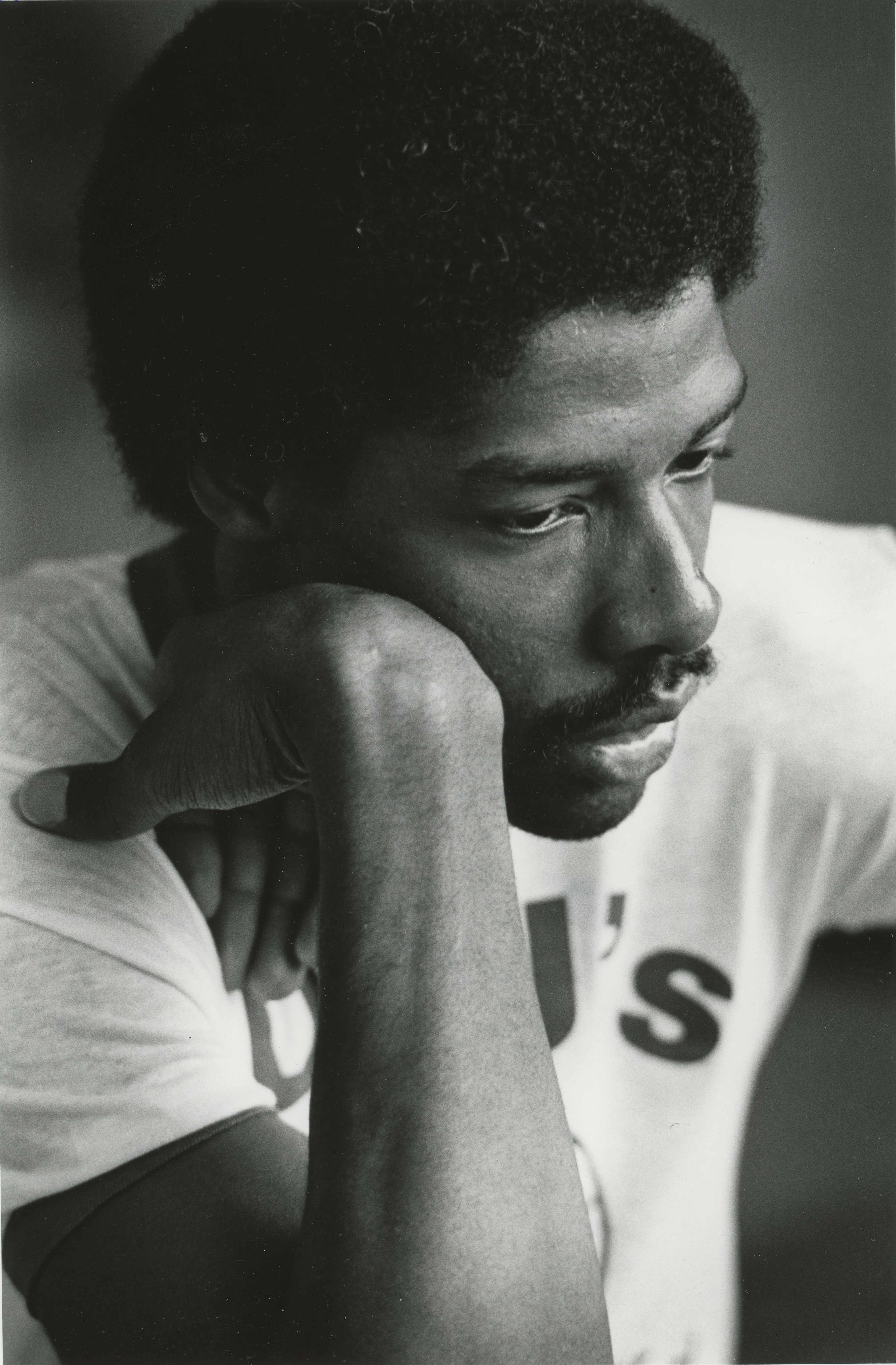 Image of Julius Erving during basketball workshop at UMass, 1980