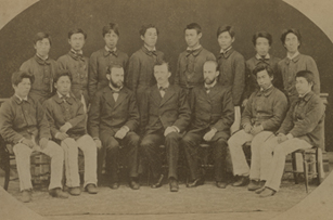 Depiction of Sapporo Ag. College students, 1881