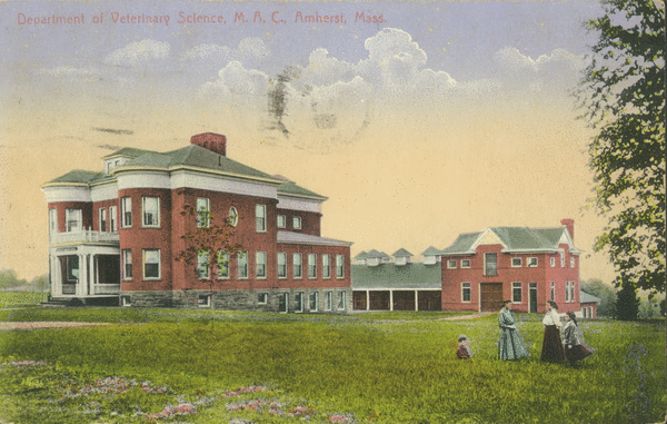 Postcard of the Veterinary Science Building, ca.1910