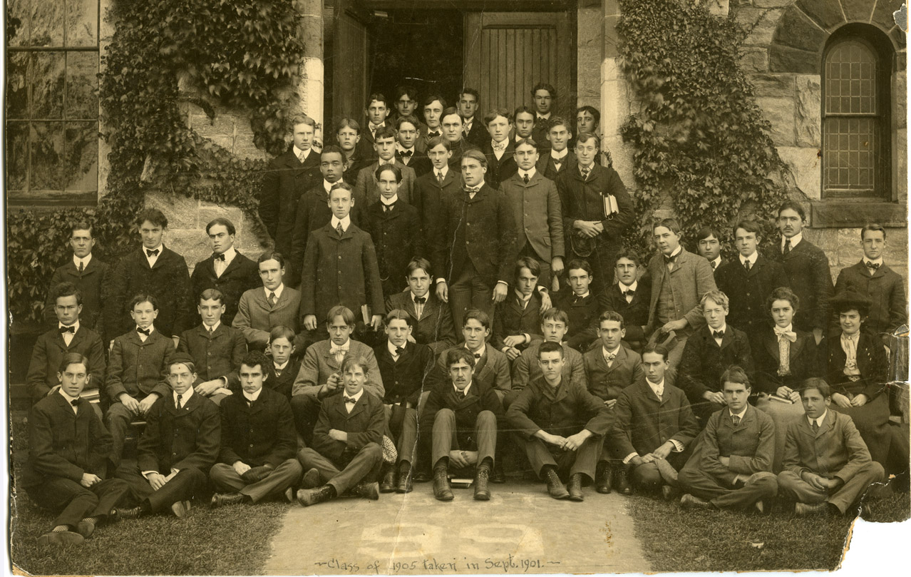 Class of 1905, upon arrival in  1901