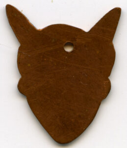 Brass mouse head