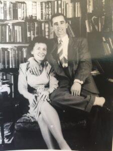 Joseph Langland with his wife, Judith