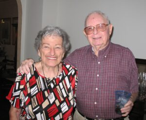 Ruth and Abe Ozer celebrating their 90th birthdays in 2010.